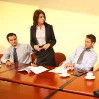 Speech Business Selling Company Staff